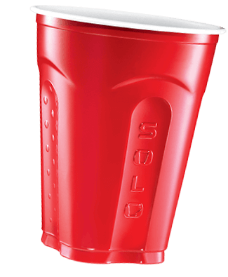 floating red cup
